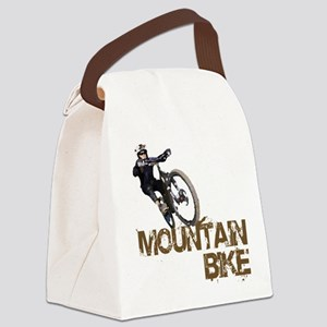 Mountain Bike Canvas Lunch Bag