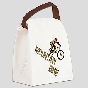 Mountain Bike Downhill Canvas Lunch Bag