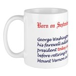 Mug: George Washington made his farewell address a