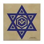 Masonic Star of David Tile Coaster
