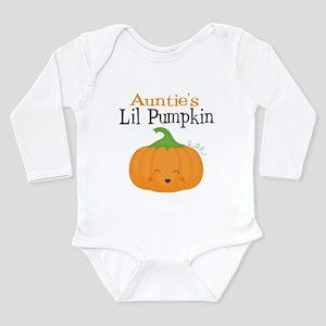 Aunties Little Pumpkin Long Sleeve Baby Bodysuit
