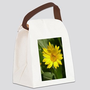 Yellow Wildflower Canvas Lunch Bag