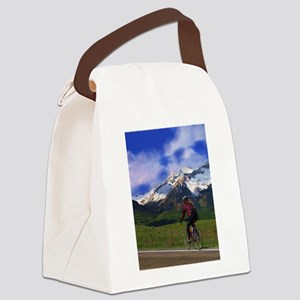 Cycling the Rockies Canvas Lunch Bag