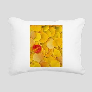 Aspen Leaves Rectangular Canvas Pillow