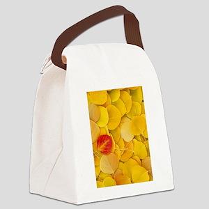 Aspen Leaves Canvas Lunch Bag