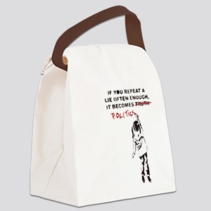 Repeat a Lie Canvas Lunch Bag