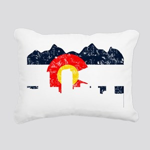 CO_Flag2_wash_Navy Rectangular Canvas Pillow