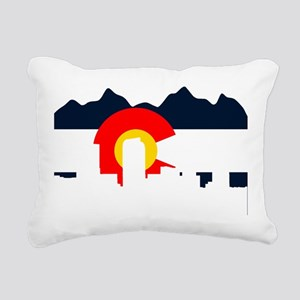 CO_Flag2_Navy Rectangular Canvas Pillow
