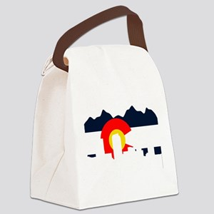 CO_Flag2_Navy Canvas Lunch Bag