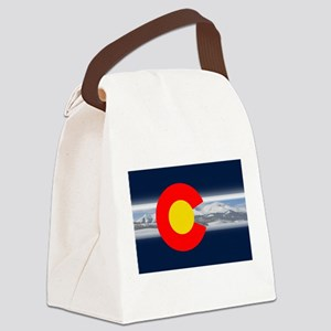 CO_Flag_Mountain Canvas Lunch Bag