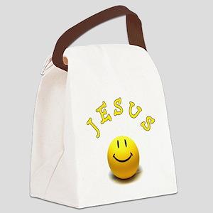 Jesus Smile Canvas Lunch Bag