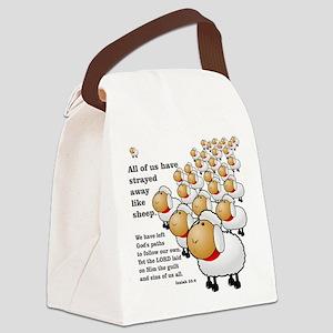 Strayed away like sheep Canvas Lunch Bag
