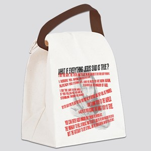 What if Jesus is truth Canvas Lunch Bag