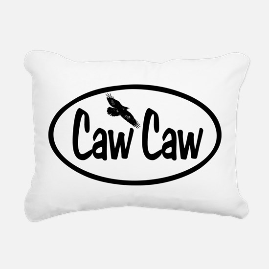 Caw Caw Oval Rectangular Canvas Pillow