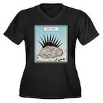 Punk Rock Women's Plus Size V-Neck Dark T-Shirt