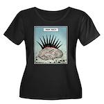 Punk Rock Women's Plus Size Scoop Neck Dark T-Shir