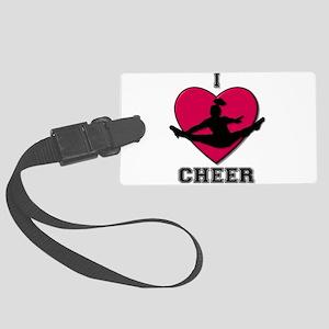 I love Cheerleading Large Luggage Tag