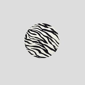 Zebra Animal Print Mini Button