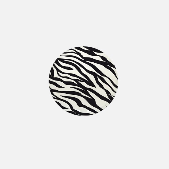 Zebra Animal Print Mini Button
