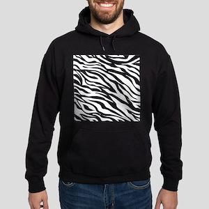 Zebra Animal Print Hoodie (dark)