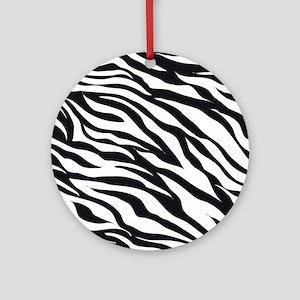Zebra Animal Print Ornament (Round)
