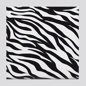 Zebra Animal Print Tile Coaster