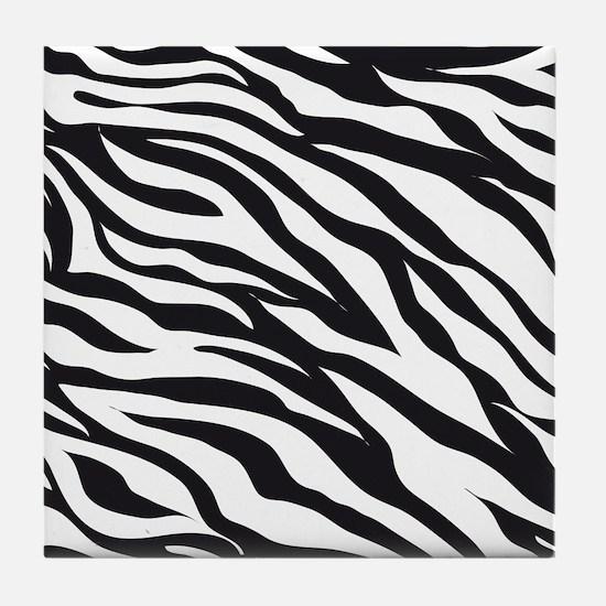 Zebra Animal Print Tile Coaster