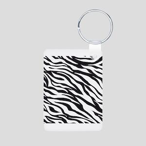 Zebra Animal Print Aluminum Photo Keychain