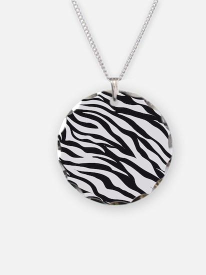 Zebra Animal Print Necklace
