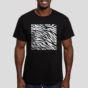 Zebra Animal Print Men's Fitted T-Shirt (dark)