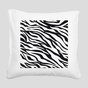 Zebra Animal Print Square Canvas Pillow