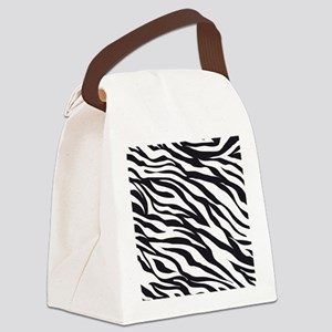 Zebra Animal Print Canvas Lunch Bag
