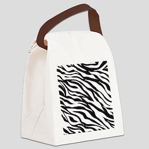 Zebra Animal Print Canvas Lunch Bag