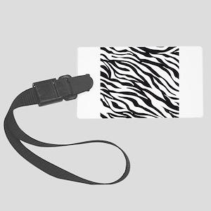 Zebra Animal Print Large Luggage Tag