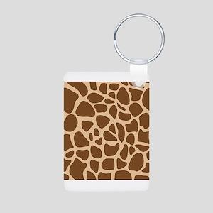 Giraffe Animal Print Aluminum Photo Keychain