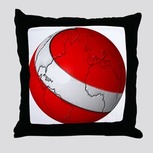 Scuba World Throw Pillow