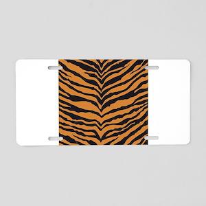 Tiger Animal Print Aluminum License Plate