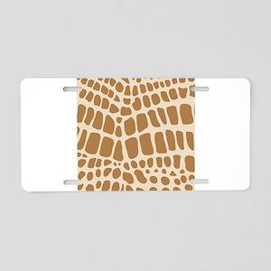 Giraffe Animal Print Aluminum License Plate