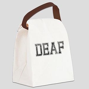 DEAF, Vintage Canvas Lunch Bag