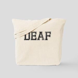 DEAF, Vintage Tote Bag