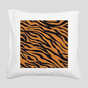 Tiger Animal Print Square Canvas Pillow