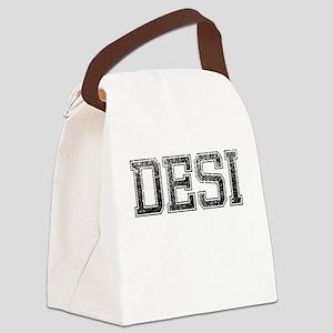 DESI, Vintage Canvas Lunch Bag