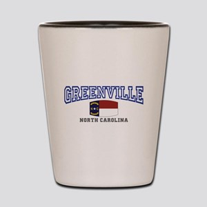 Greenville, North Carolina, NC, USA Shot Glass