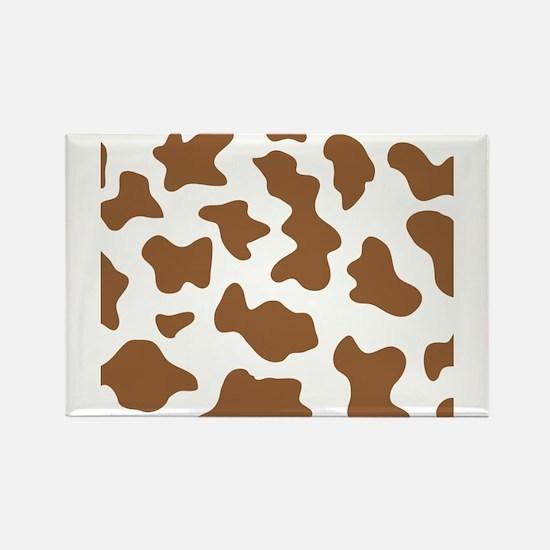 Brown Cow Animal Print Rectangle Magnet