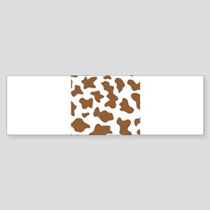Brown Cow Animal Print Sticker (Bumper)