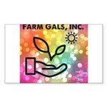 Farm Gals Logo Sticker (Rectangle 50 pk)