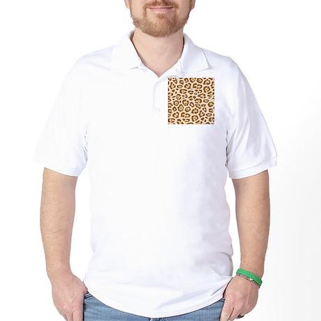 Cheetah Animal Print Golf Shirt