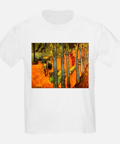 Alyscamps by Vincent Van Gogh Kids T-Shirt