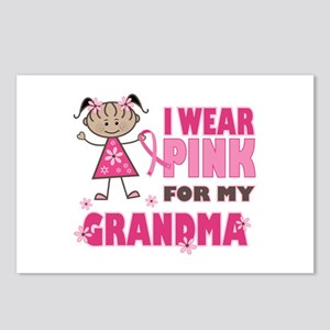 Wear Pink 4 Grandma Postcards (Package of 8)