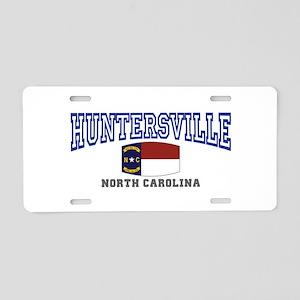 Huntersville, North Carolina Aluminum License Plat